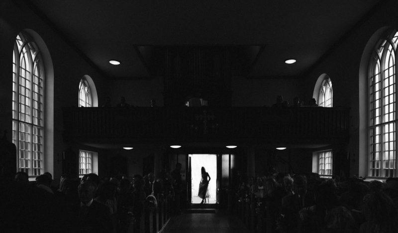 silhoette bridal entrance by adam riley