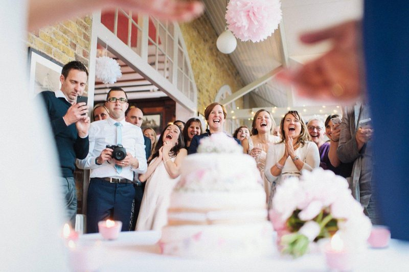 unusual cake cutting angle by David Weightman