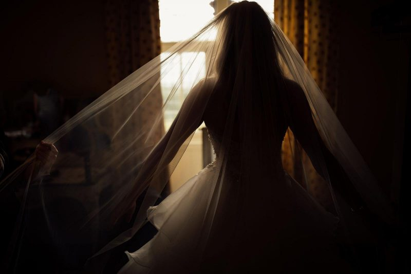 artistic natural bridal portrait by Harry Michael