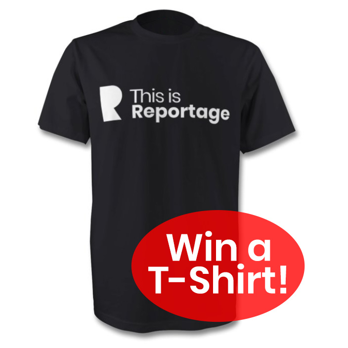 win a this is reportage t-shirt